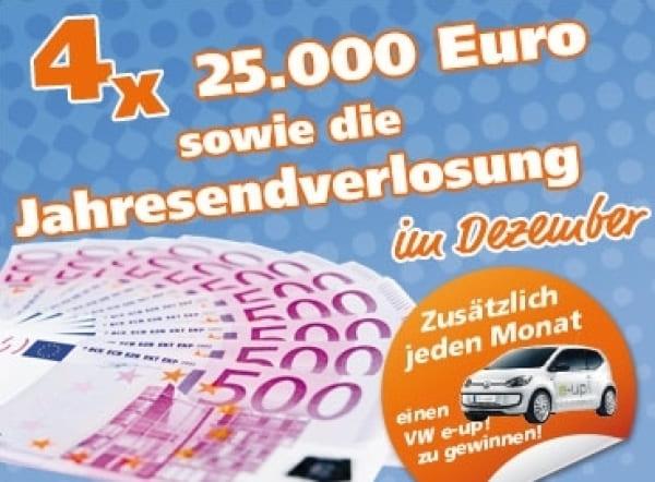 VR-Gewinnsparen – Sonderverlosung von 4 x 25.000 Euro