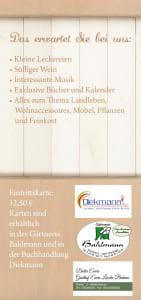 Flyer: Gärtnerei Bahlmann
