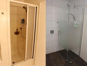 Die neue Dusche ist ebenerdig.  Foto: Hahn