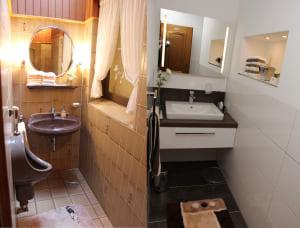 Hell und modern: Das neue Gäste-WC.  Foto: Hahn