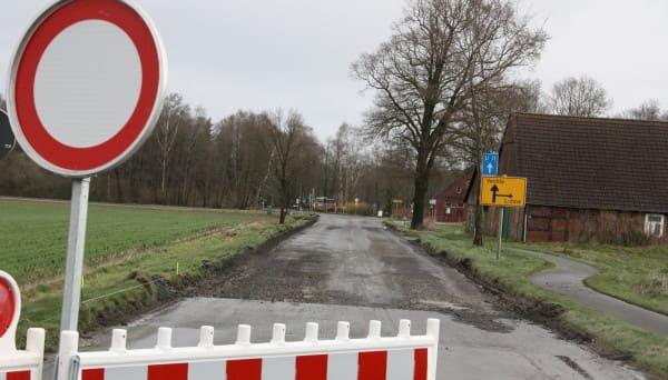Vollsperrung der Dinklager Landstraße