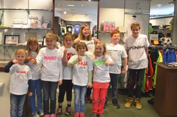 Kinder hatten Spaß beim Textildruckseminar