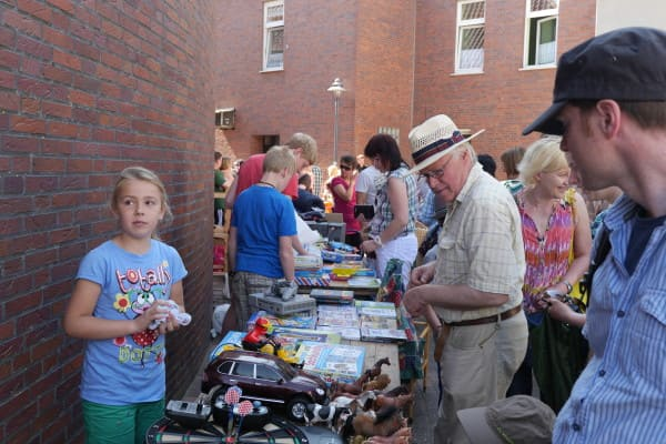 Flohmarkt für Kinder in der Innenstadt