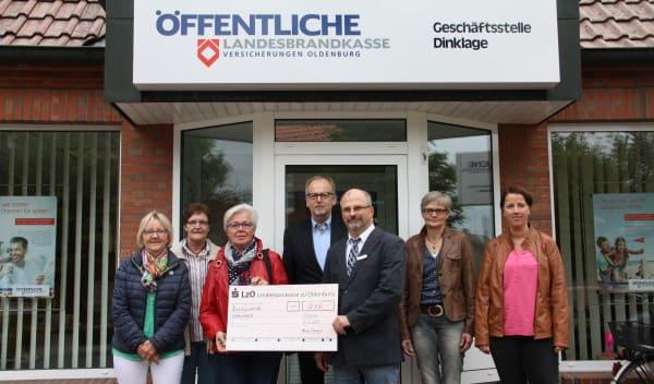Spenden statt Geschenke bei Jubiläumsfeier: 2100 Euro für den Ambulanten Hospizdienst Dinklage
