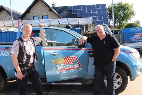 Willi Remme seit 25 Jahren bei der Dachdeckerei Vagelpohl beschäftigt