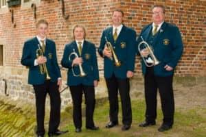 Flügelhornregister (v.l.): Niklas Witte, Rita Macke, Stephan Blömer und Dirk Brune