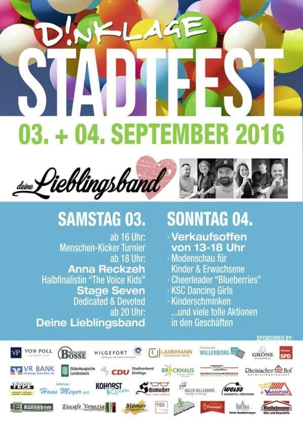 Dinklager feiert am 3. und 4. September Stadtfest