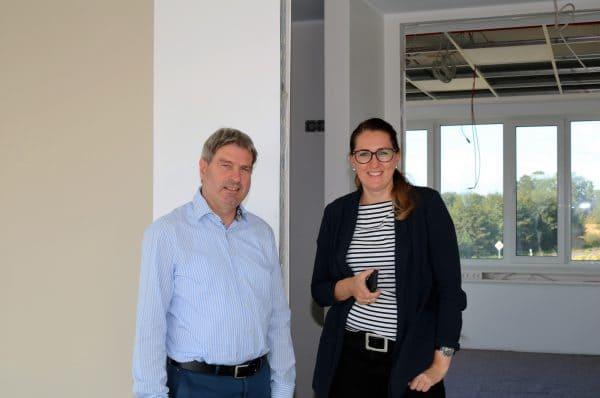 Bornhorst Innenarchitektur gestaltet Innenräume eines neuen Bürogebäudes