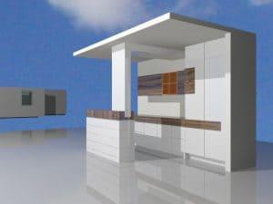 Vorabentwurf Küche. Grafik: Bornhorst Innenarchitektur