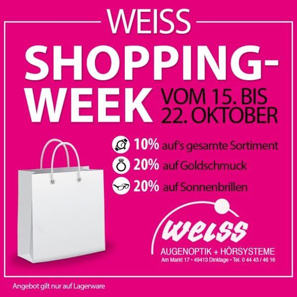 Noch bis Samstag kräftig sparen: Shopping Week bei Uhren/Optik Weiss