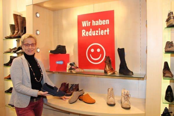 Winterschlussverkauf im Schuhhaus Fangmann