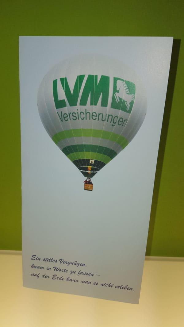 Mit dem LVM-Heißluftballon hoch hinaus