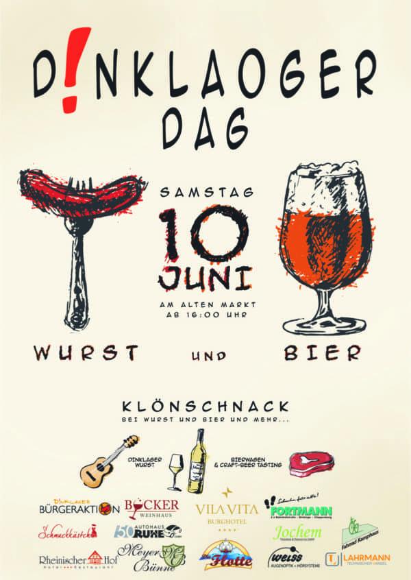 Wurst und Bier statt Kaffee und Kuchen: Dinklaoger Dag am 10. Juni in völlig neuem Gewand