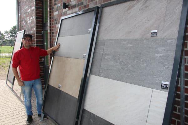 Einblicke in viele Gestaltungsmöglichkeiten: Fliesenlegermeister Stephan Bokern errichtet Show-Room