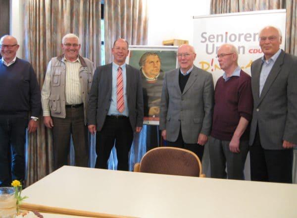 Luthers Lebensweg beeindruckt: Evangelischer Pfarrer Fridtjof Amling referiert bei Senioren-Union Dinklage