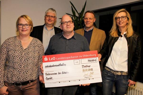 750 Euro für die Fördervereine der Schulen