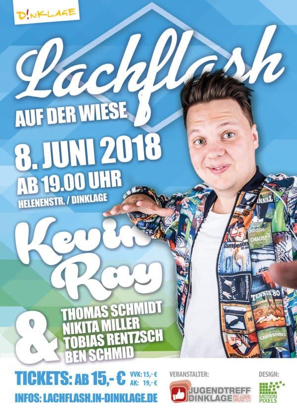 """Comedian Kevin Ray zum """"Lachflash auf der Wiese"""" zu Gast  – Vorverkauf beginnt ab sofort"""
